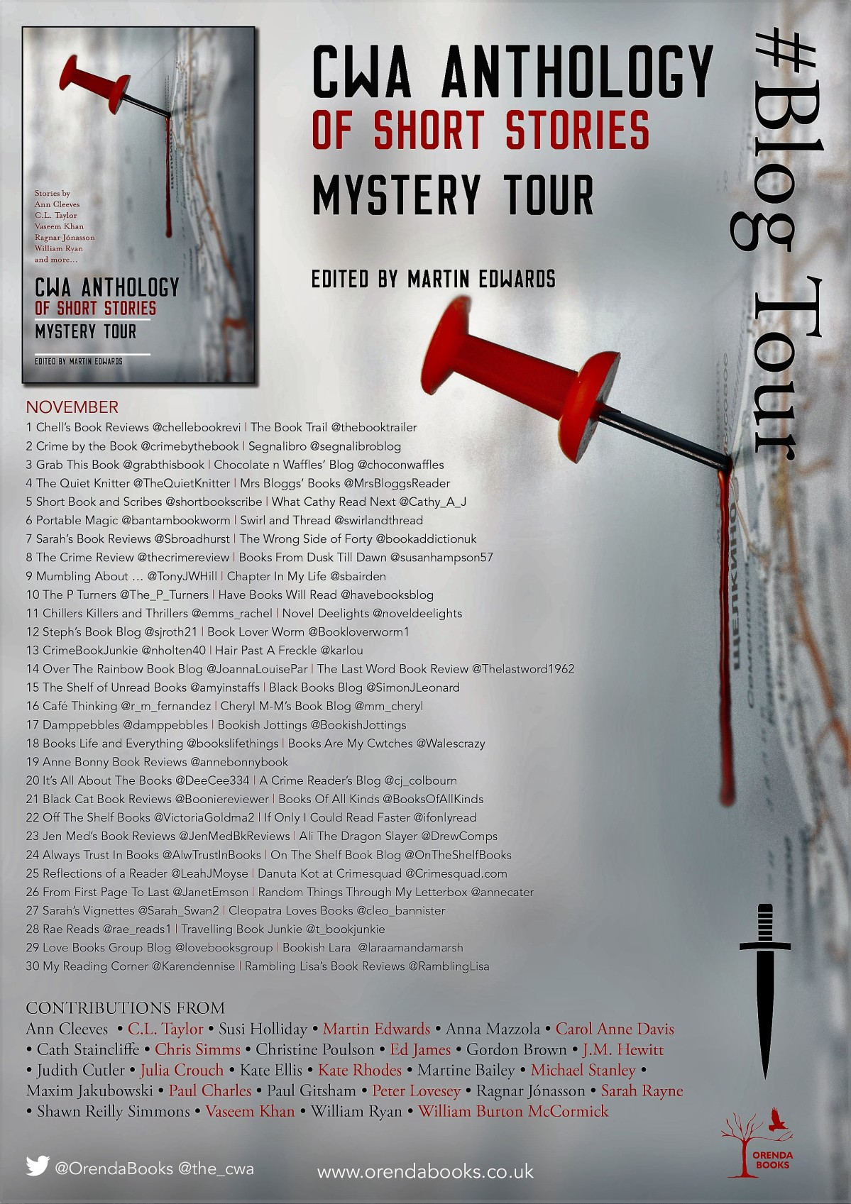 Mystery Tour Edited by Martin Edwards #CWAAnthology #BookReview#BlogTour